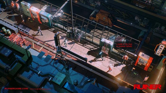 'Ruiner' es un juego de Devolver Digital lleno de acción y ubicado en el futuro 004