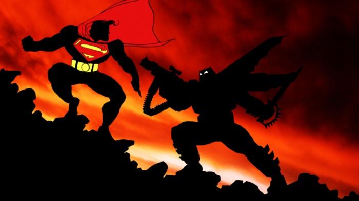 Batman vs Superman in The Dark Knight Returns Comic