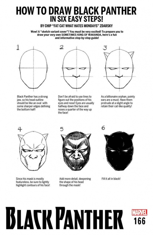 BLACK PANTHER HOW TO DRAW VARIANT CVR