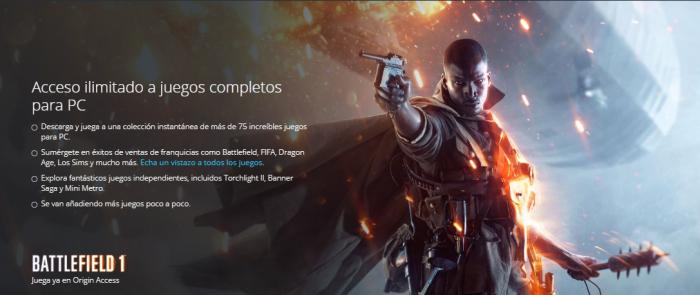 'Battlefield 1' ya se encuentra disponible para los suscriptores de EA y Origin Access (1)