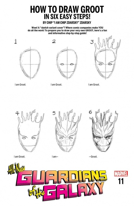 GUARDIANS HOW TO DRAW VARIANT CVR