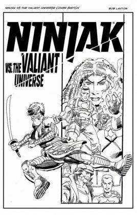 Bob Layton muestra material no utilizado en Valiant Comics 1