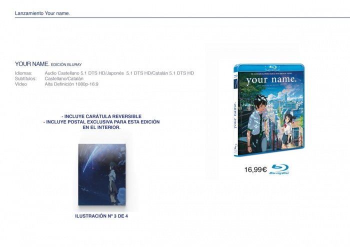 Edición Bluray Your Name Selecta Visión