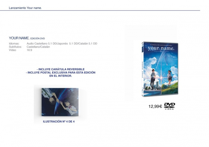 dición DVD Your name Selecta Visión