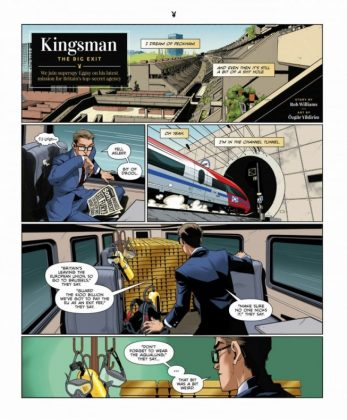 El cómic Kingsman The Big Exit ya ha sido publicado en la revista Playboy 1 copia