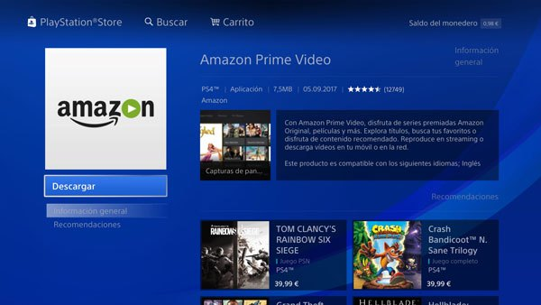 El servicio de Amazon Prime Video ya está disponible en PlayStation en España 1