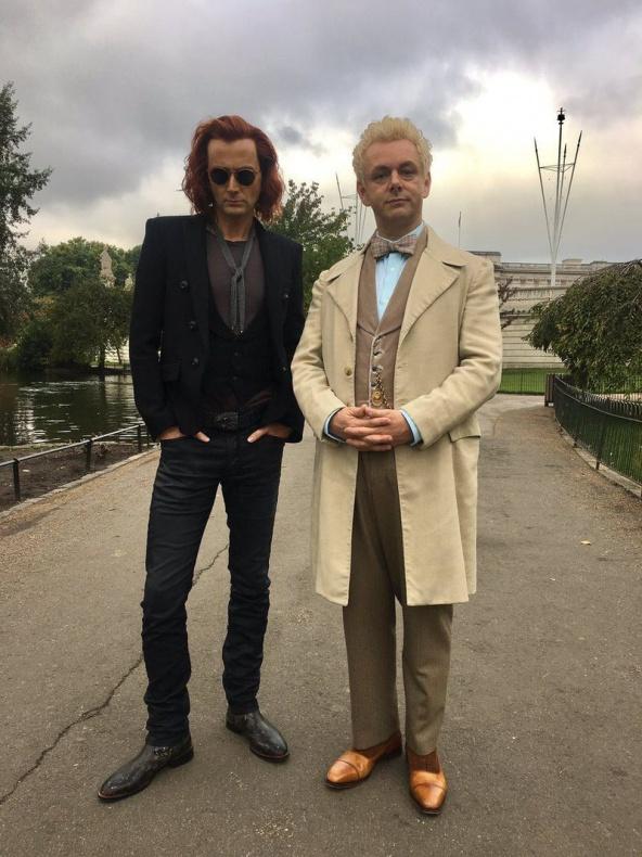 Primera imágen de David Tennant y Michael Sheen en Buenos presagios 2