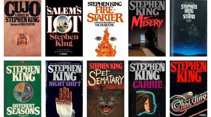 stephen king book covers font
