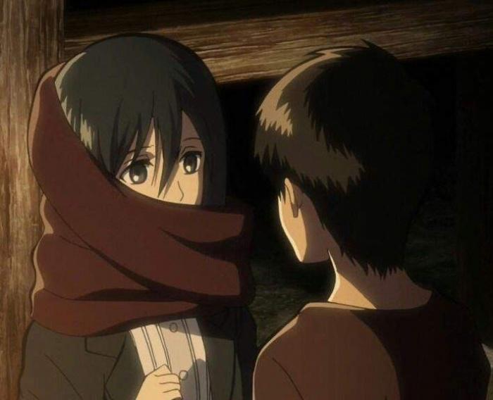 Eren Mikasa Ataque a los titanes