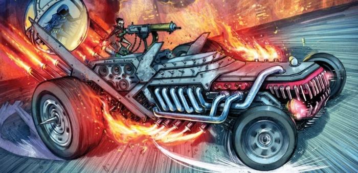 Joker Laughmobile DC Metal 1