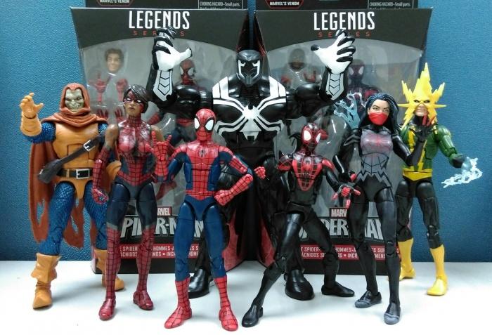 Marvel Legends Spider Man Space Venom Series Figures