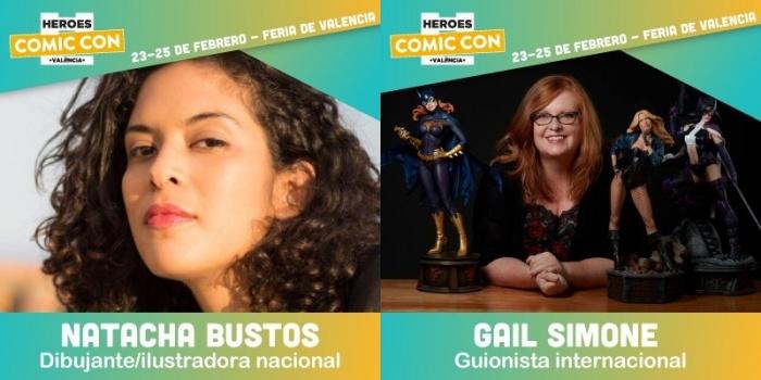 Natacha Bustos y Gail Simone