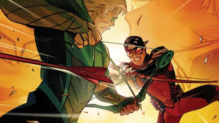 Oliver Queen Green Arrow y Roy Harper Red Arrow