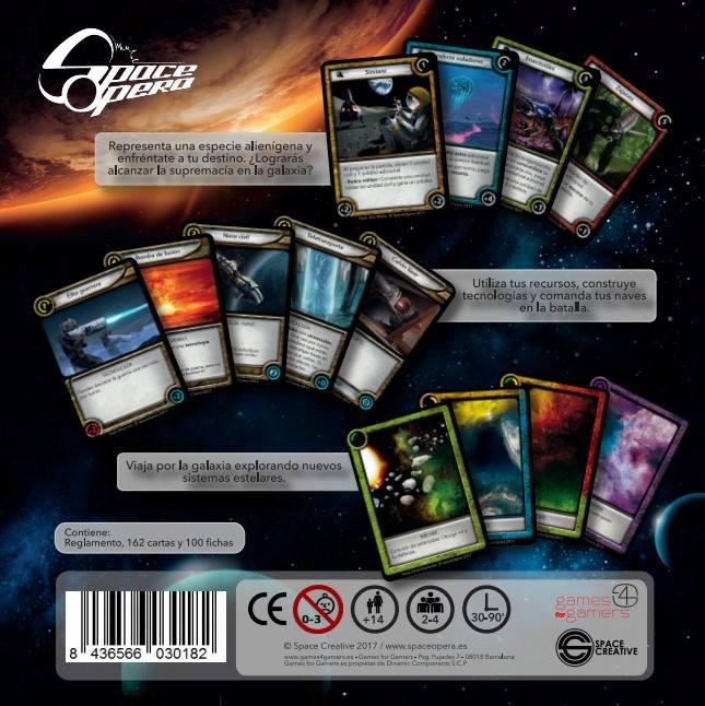 Space Opera juego cartas