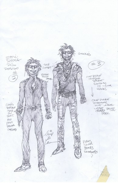 Static Shock redesigns