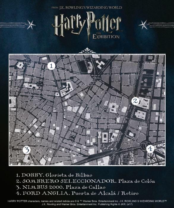 harry potter exhibition mapa