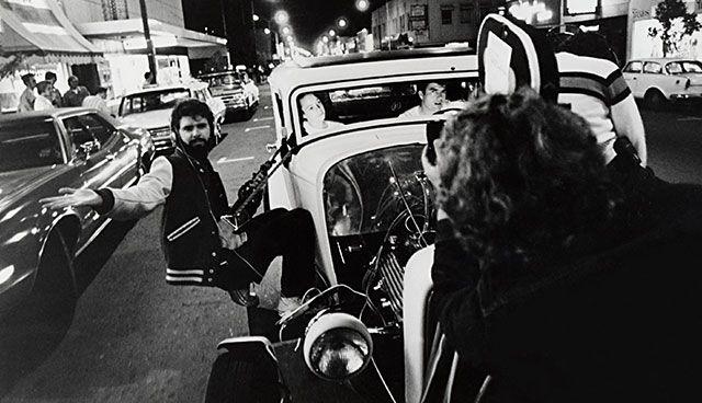 George Lucas dirigiendo en 'American Graffiti'