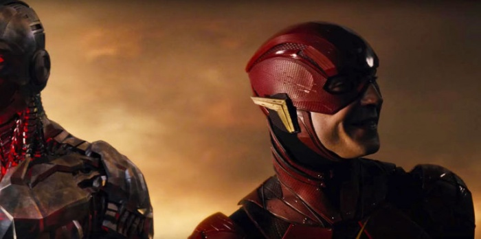 Liga de la Justicia - Flash sonríe
