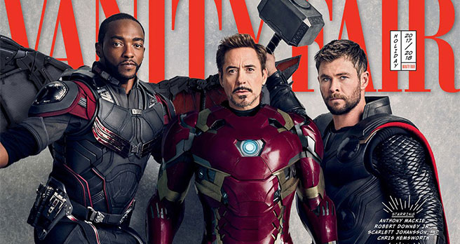 vanity fair - Thor - Iron Man - Falcon