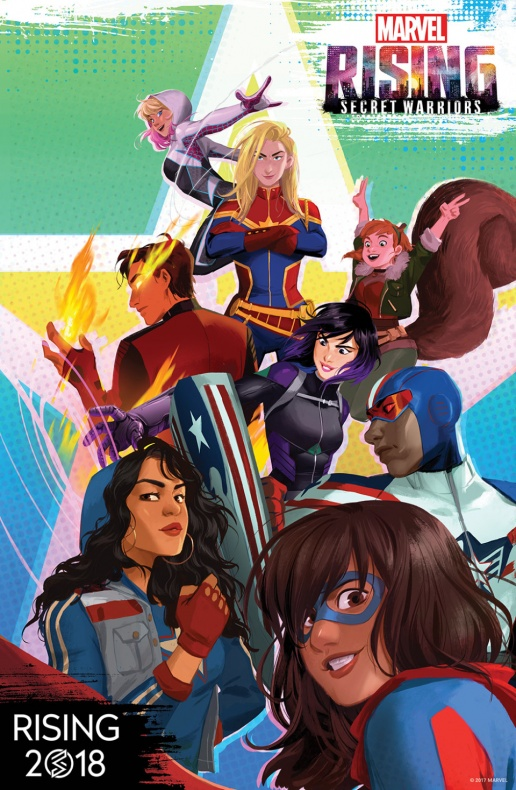 Marvel Rising diseño promocional