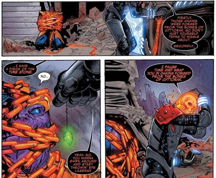 Thanos comic gema tiempo