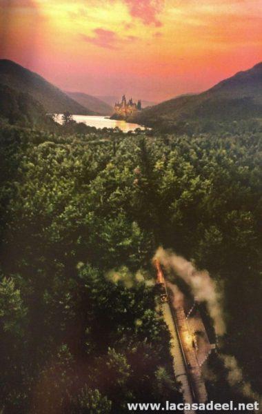 Expreso llegando a Hogwarts