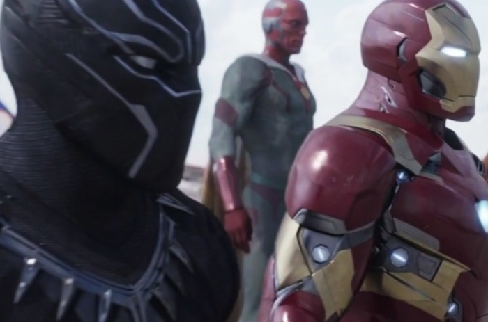 civil war iron man black panther vision