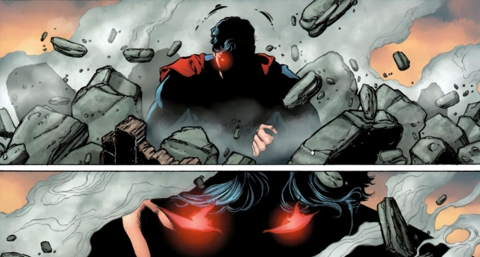 superman enfadado