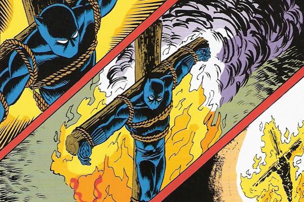 Pantera Negra en la cruz