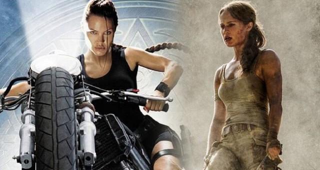 Tomb Raider Angelina Jolie Alicia Vikander