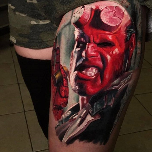 tattoo hellboy