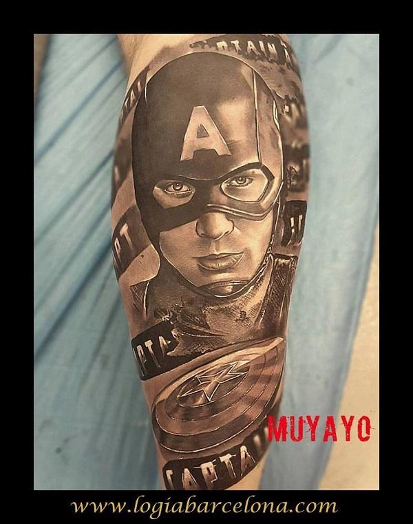 tatuaje comic capitan america