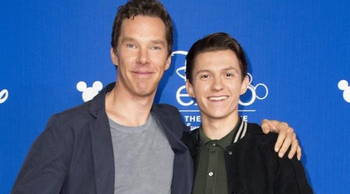 Tom holland y benedict Cumberbatch