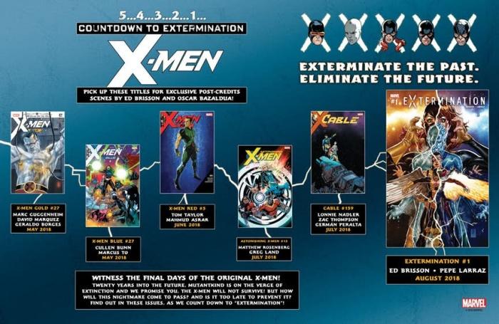 X men extermination infografia