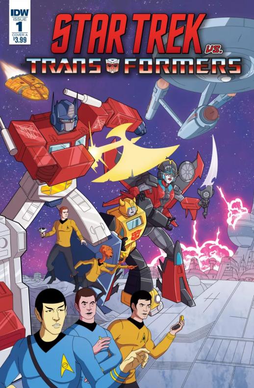 Portada star trek vs transformers