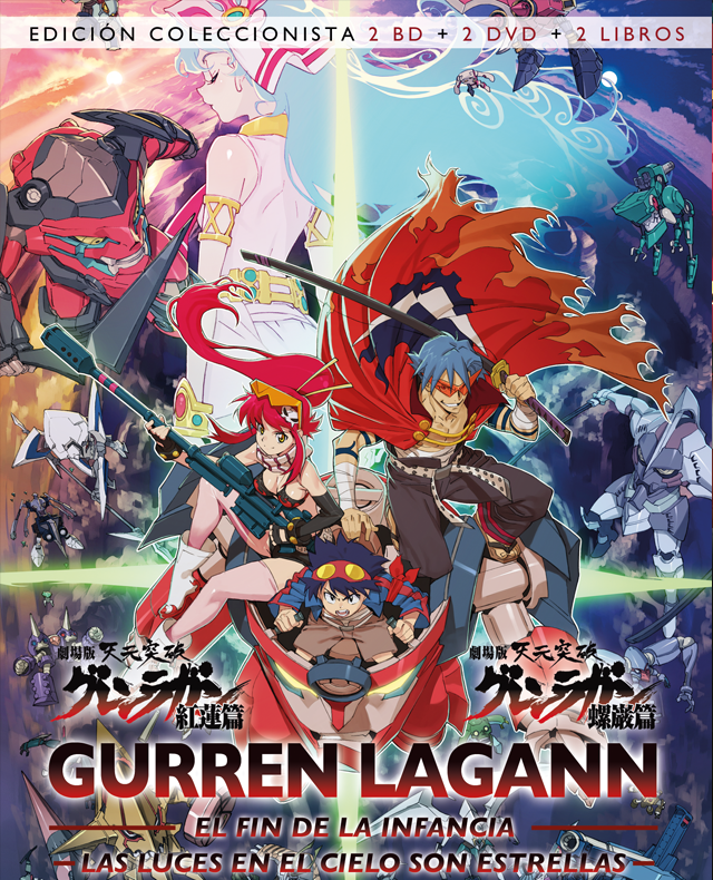 Gurren Lagann Ed. Coleccionista 2 BD 2 DVD 2 LIBROS