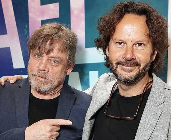 Mark Hamill y Ram Bergman en el Festival de Cine Israelí de Los Ángeles