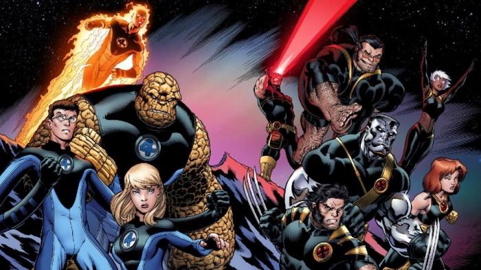 Disney Cuatro Fantasticos y X-Men
