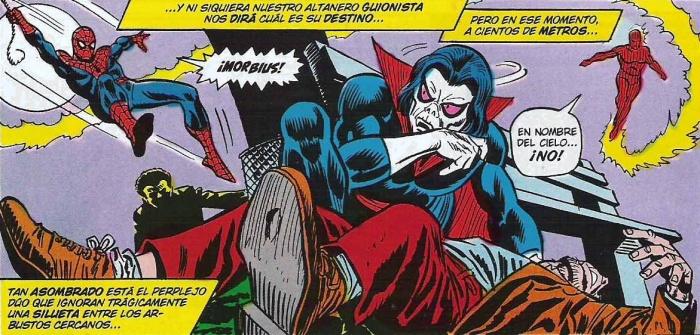 Morbius vs La Antorcha Humana y Spider Man