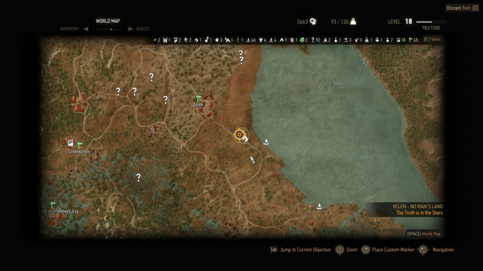 The Witcher 3 - Wild Hunt mapa