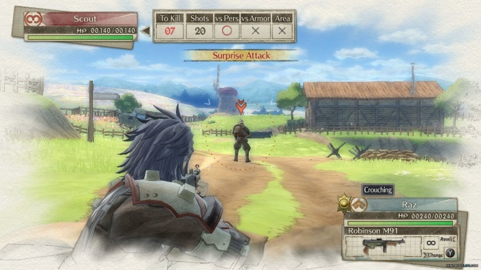 Valkyria Chronicles 4 ataque