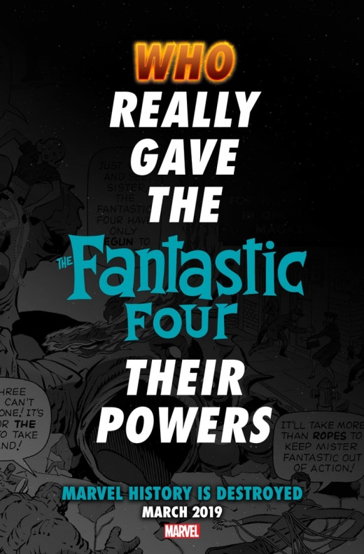 Marvel Comics - teaser Destroyed Fantastic Four