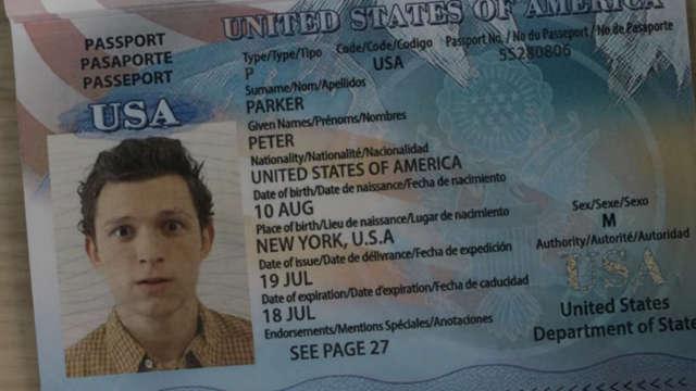 Spider-Man - Lejos de casa - pasaporte