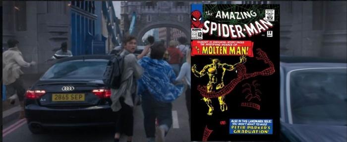 Spider-Man - Lejos de casa (Molten Man - ASM #28 Sep 1965)
