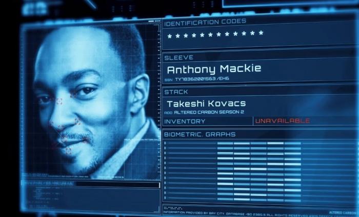 Altered Carbon temporada 2 - Anthony Mackie - Takeshi Kovacs