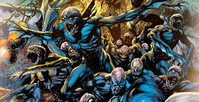 Los monstruos de la Fosa en Aquaman.