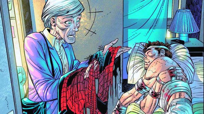 May Parker descubre Peter Spider Man