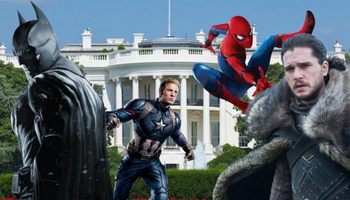 Batman- Capitán América - Spider-Man - Jon Nieve - Casa Blanca - White House