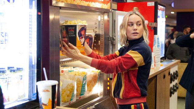 Brie Larson in AMC theater