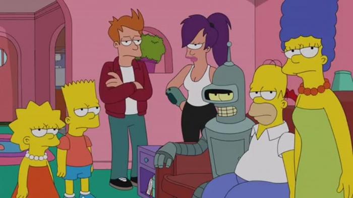 Los Simpson y Futurama